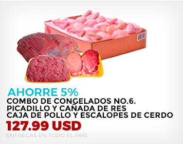 AHORRE 5 %. Combo de Congelados No.6. Picadillo y Cañada de Res, Caja de Pollo y Escalopes de Cerdo