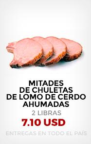 Mitades de Chuletas de Lomo de Cerdo ahumadas (2 Lb)