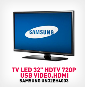 "TV LED 32"" HDTV 720P UN32EH4003, USB VIDEO.HDMI"