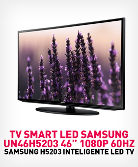 TV SMART LED Samsung UN46H5203 46 plgdas 1080p 60Hz