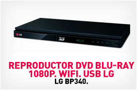 Reproductor Video LG DVD Blu-ray 3D , BP540 con Wi-Fi