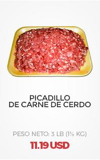 Picadillo de Carne de Cerdo. 3 Lb (1⅓ Kg)