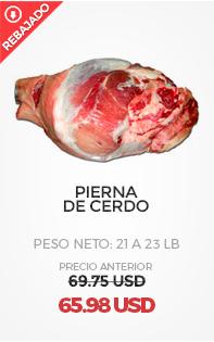 Pierna de cerdo, Peso Neto: de 21 a 23 Lb