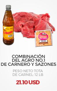 Combinación del Agro No.1 de Carnero y Sazones, Peso Neto Total en Carne (aproximado): 3 Lb
